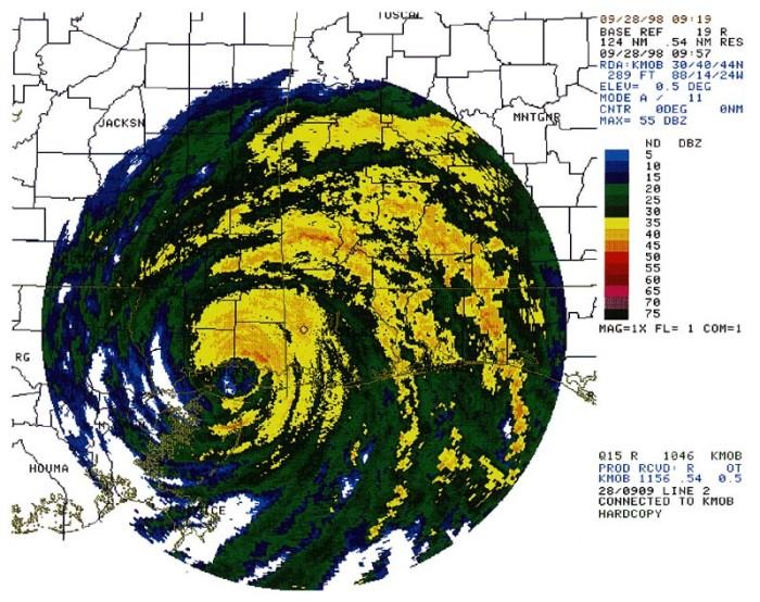 4) Hurricane Georges tornado outbreak