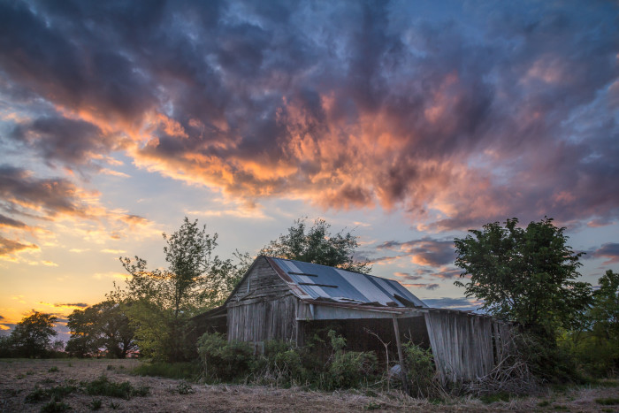 8) Barns and sunsets? Yeah.