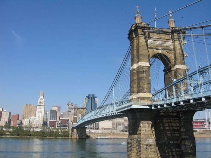 9. John A Roebling Suspension Bridge