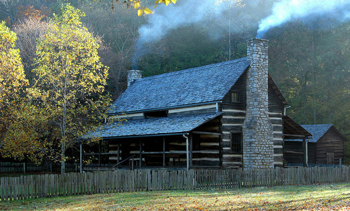 12) Skip town for a moment at this cozy cabin