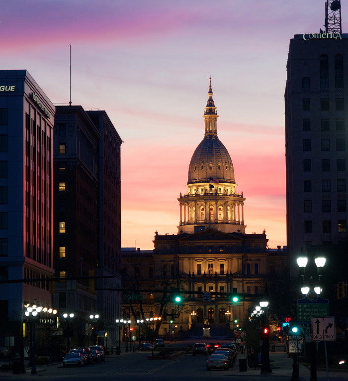 8) Michigan State Capitol
