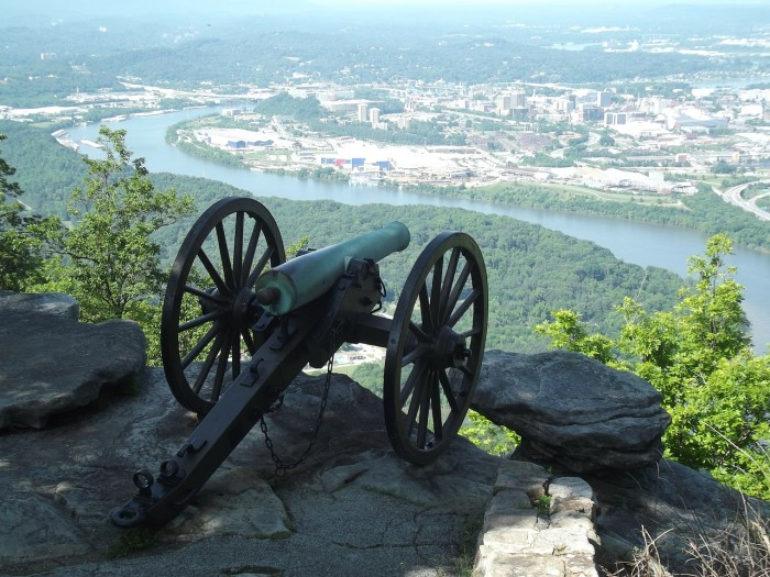 10) Lookout Mountain with a cannon