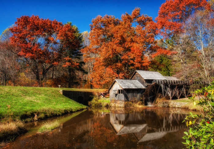 3.Mabry Mill in a state of perfect fall perfection