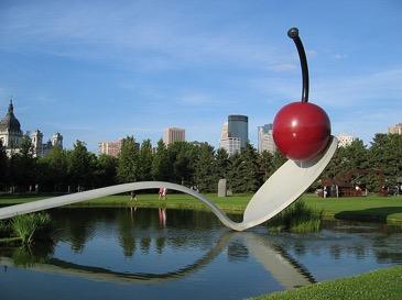 11 Walker Art Center - Minneapolis hosts the world renowned Walker Art Center and Sculpture Garden, not to mention a flourishing art community.