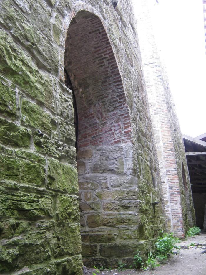 3) Mossy brick walls