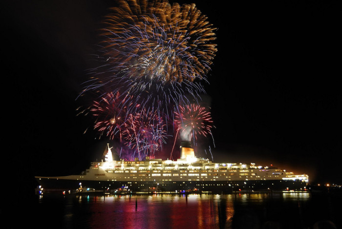 1. Enjoy a fireworks cruise.