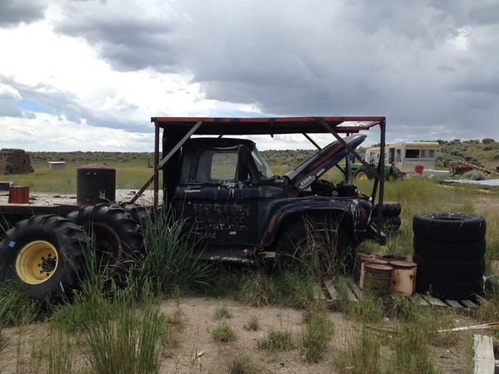7) Old pickup truck, near Christmas Valley