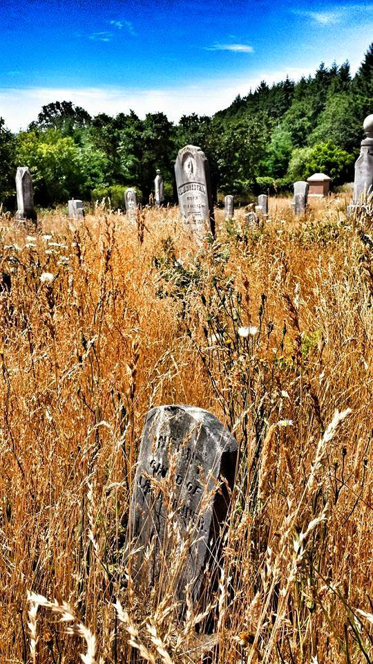 4) Pioneer graveyard, Yamhill County