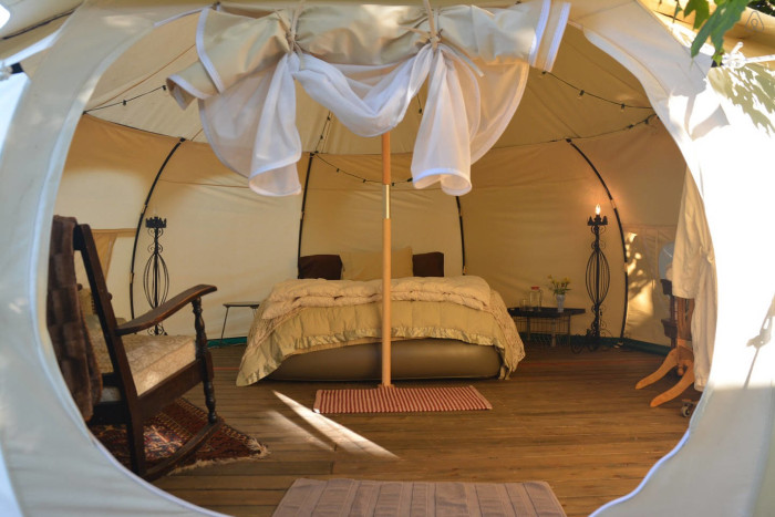 5) Ultimate Glampng Tent, Airbnb, Portland