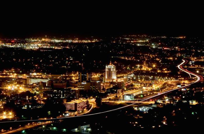 38. The Lights of Roanoke from the Roanoke Star
