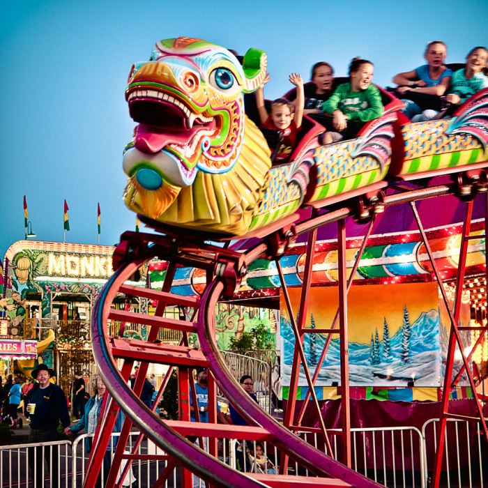 33. Riding the coasters at the Virginia State Fair