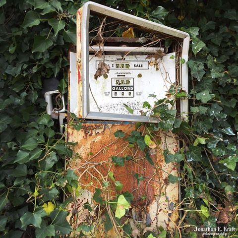 2) Old gas pump in Salem