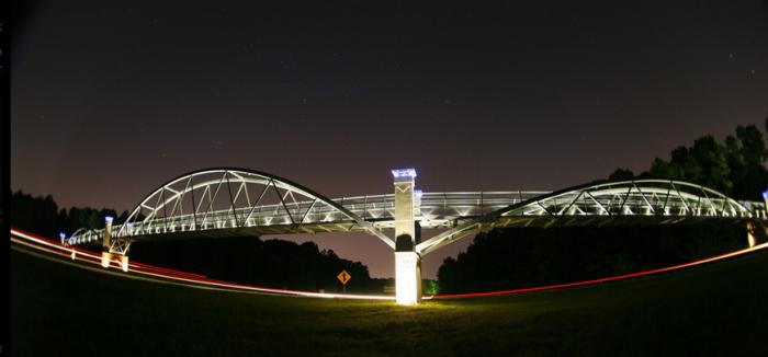 8. Reedy Creek Pedestrian Bridge, Raleigh