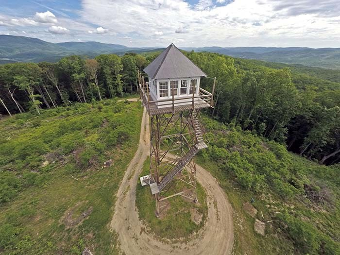 2. A former fire lookout tower.