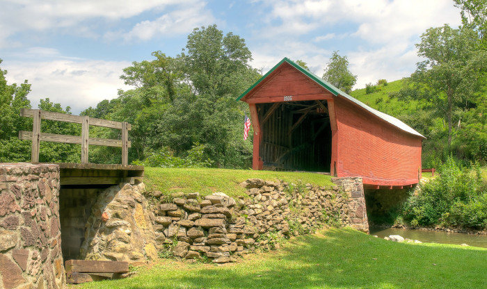 9. Sinking Creek Covered Bridge, Newport