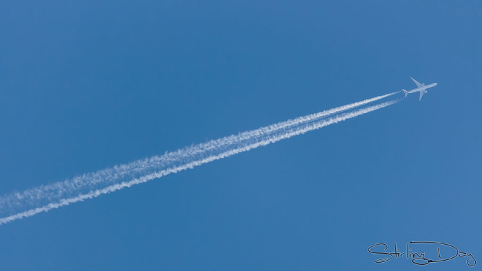 4.) Airline contrails are actually chemicals.