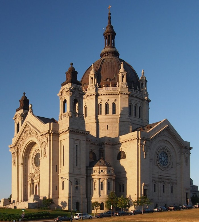 5 The Cathedral of St. Paul, National Shrine of the Apostle Paul, and Co-Cathedral of the Archdiocese of Saint Paul and Minneapolis with The Basilica is beautiful sight.