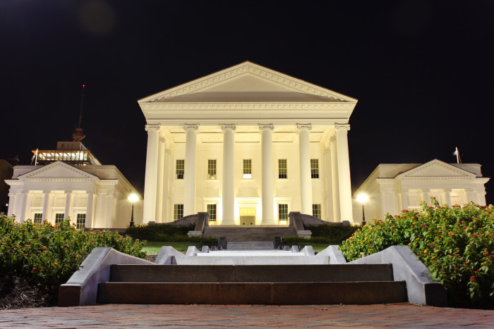 19. The Virginia State Capitol at Night in Richmond