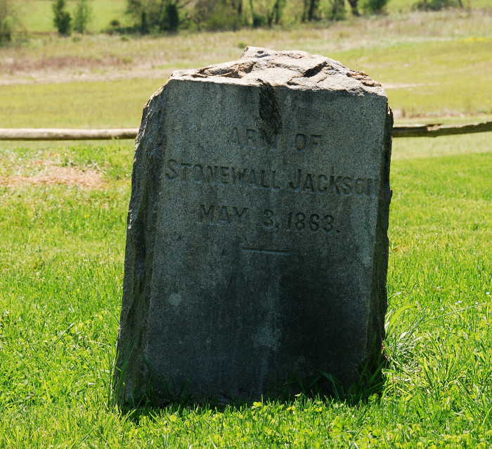 "7. General ""Stonewall"" Jackson's Arm is given a proper burial at Ellwood Plantation in Wilderness"