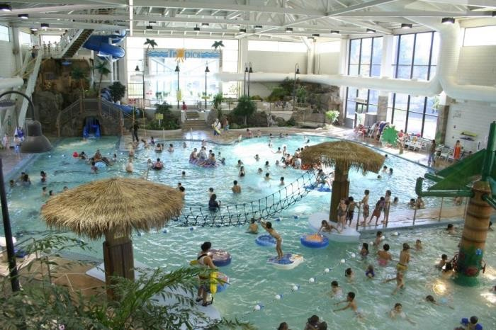 7 The Tropics Waterpark at the Shoreview Community Center has a waterslide with a custom jukebox that lets you pick music and lights to accompany your ride!
