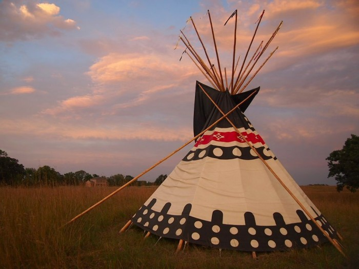 12. Upper Sioux Agency State Park - Rent an 18 foot diameter tipi for a truly unique night in this beautiful park.