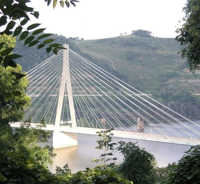 8. The Veterans Memorial Bridge in Weirton