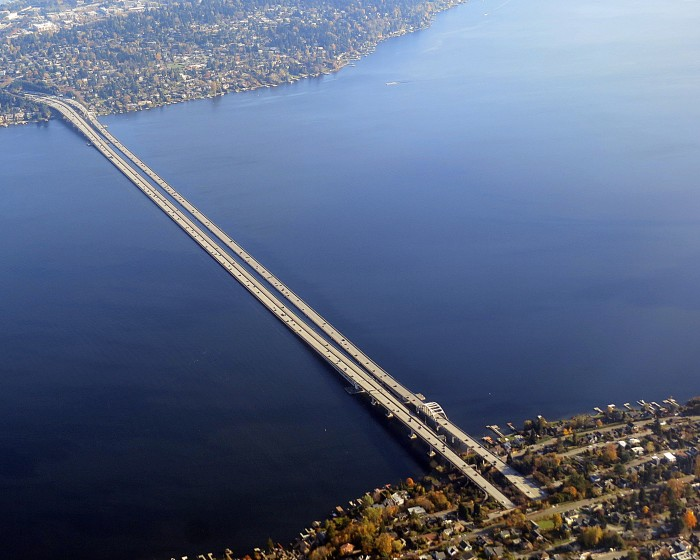 16. Four of the five longest floating bridges in the world are right here in Washington. They include the Evergreen Point Floating Bridge, the Lacey V. Murrow Memorial Bridge, the Homer M. Hadley Bridge, and the Hood Canal Bridge.