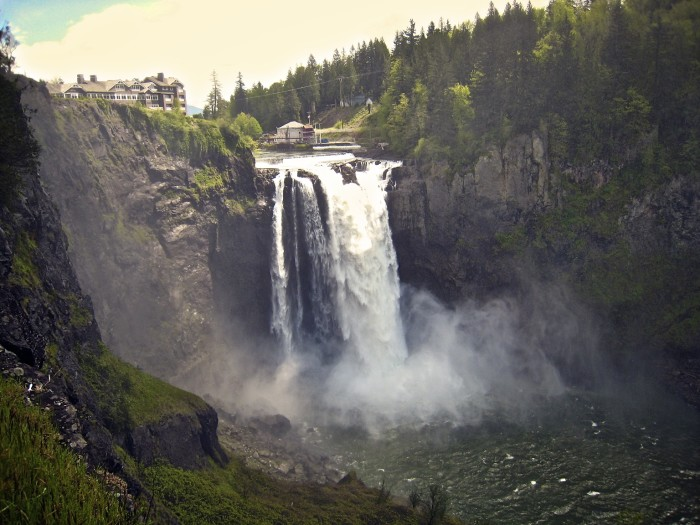 9. Move over, Niagara Falls. Snoqualmie Falls plunges 100 feet further!