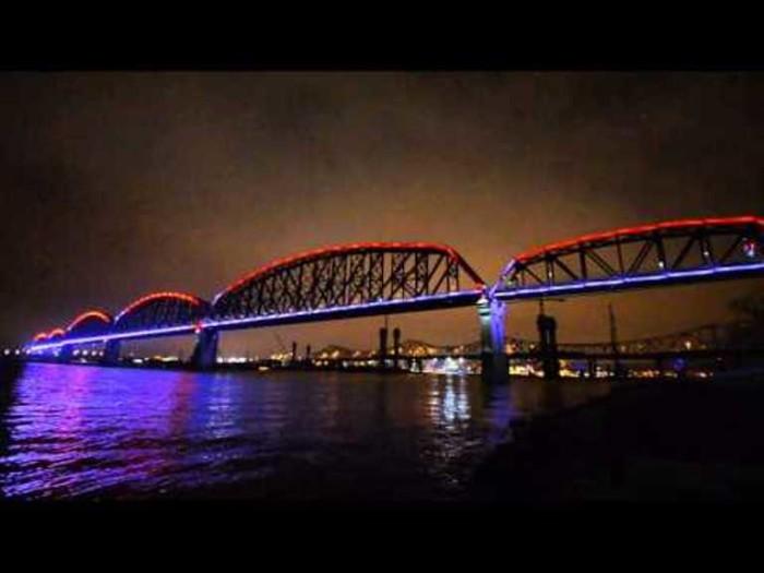 1. Waterfront Walking Bridge in Louisville