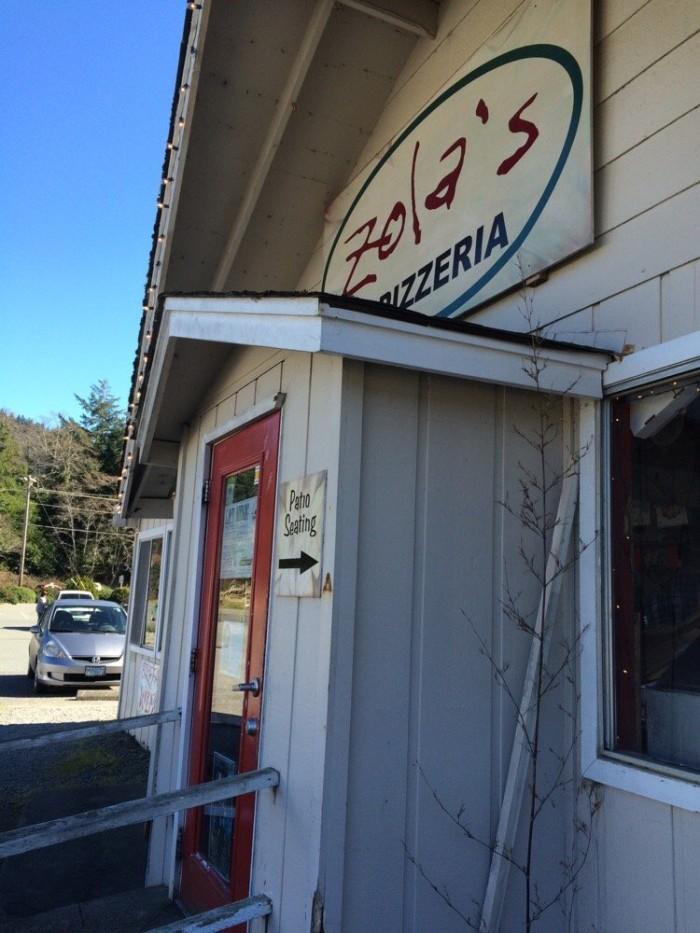 1) Zola's Pizzeria, Brookings