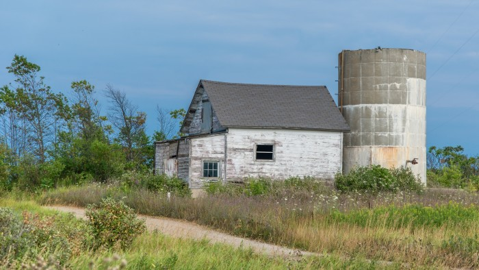 1. Up in Ellison Bay, a  once operational barn now sits dormant.