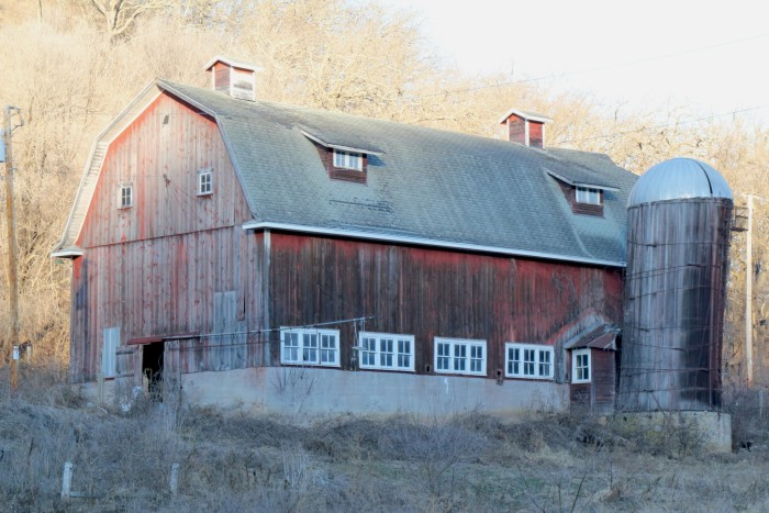 3. Here is a large, old barn in Freeman.