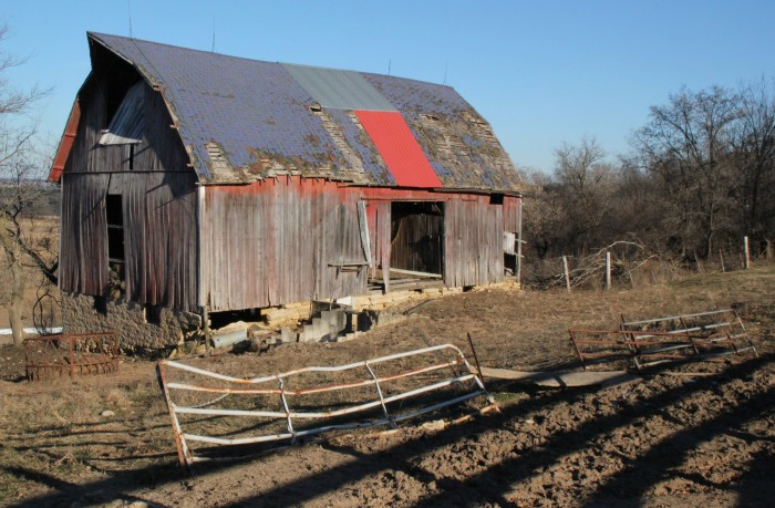 4. Up in Seneca, this barn withers away.