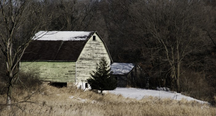 5. In Central Wisconsin, a nice barn once operated.