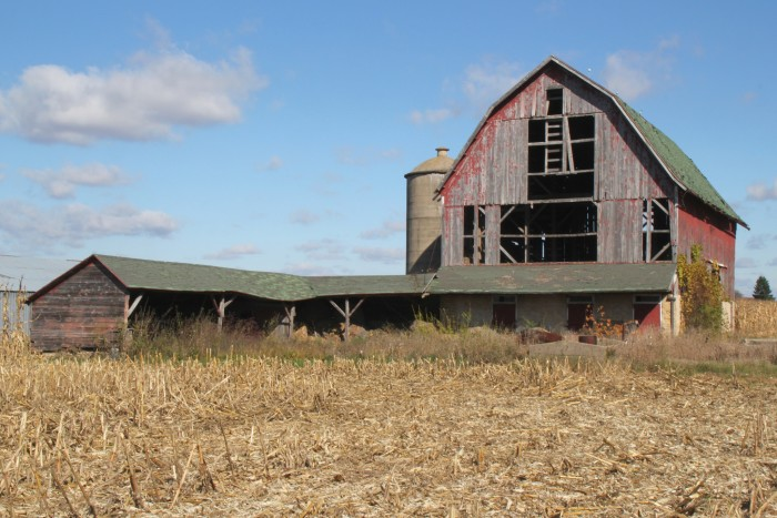 8. What was once a large farm is no more.