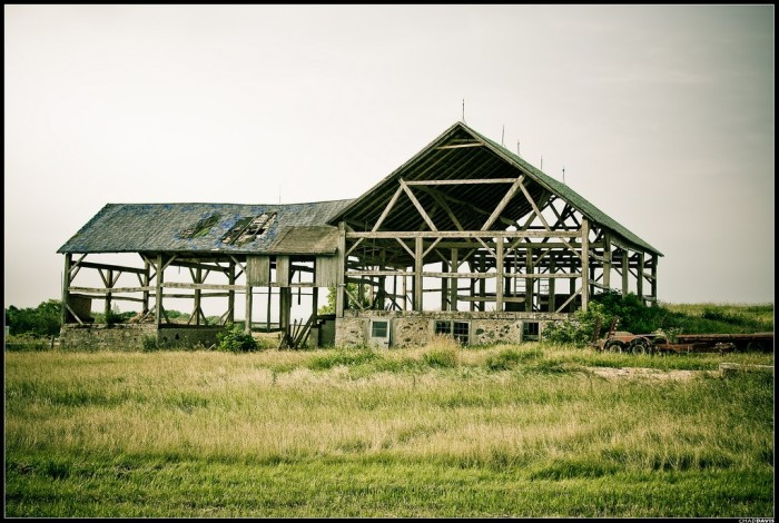 10. This skeleton of an old barn is in Manitowoc.