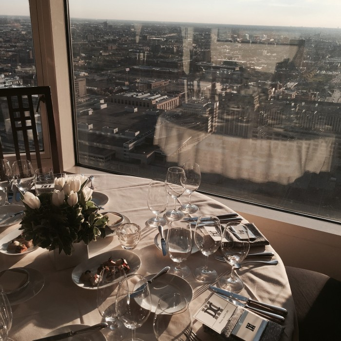 6. Delectable food and a stunning view makes Everest (Chicago) a fantastic dinner date choice.