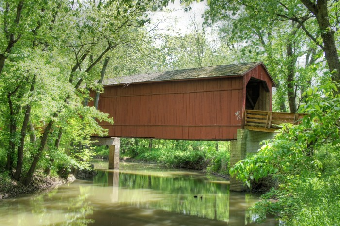 7. Is there anything more romantic than a covered bridge--like this one (Sugar Creek Bridge, Glenarm)?