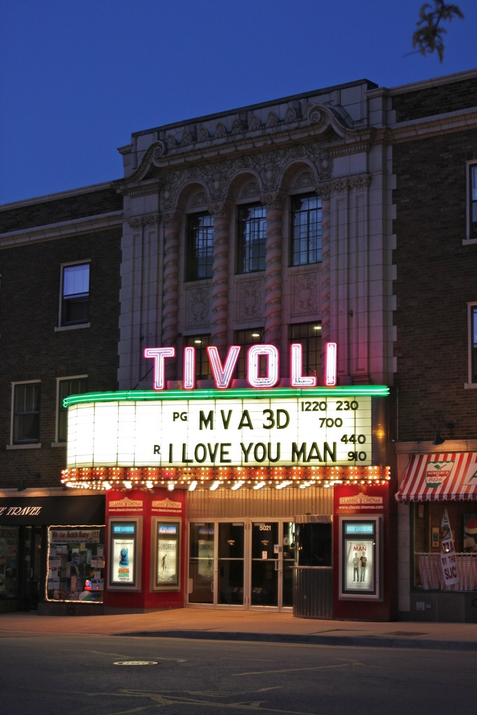 10. This elegant theater, originally built in 1928, is a perfect place to see a movie with your date. Tivoli is located in Downers Grove.