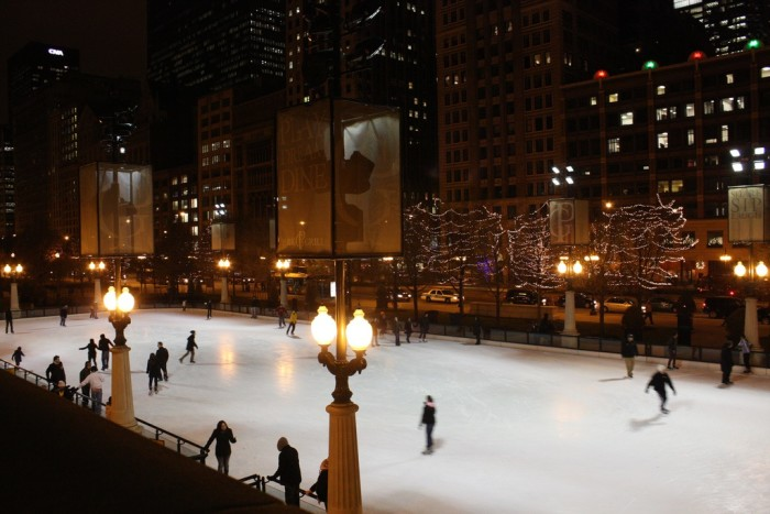 12. What is more romantic than ice skating in the heart of the city? Head over to Millennium Park Ice Rink (Chicago).