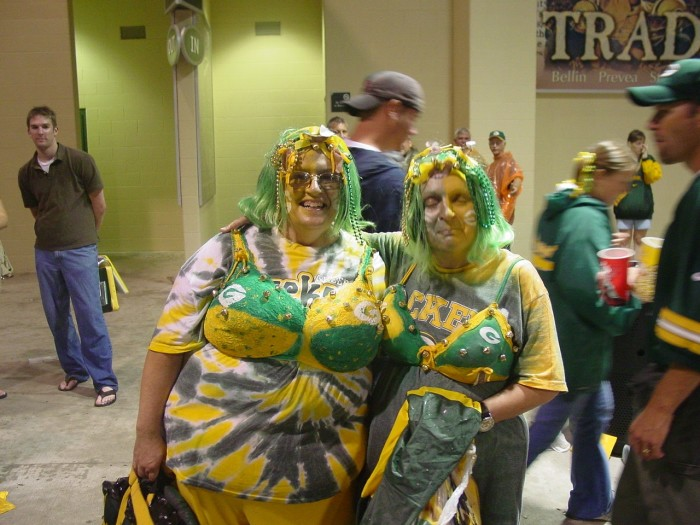 5. The Packers super fan. Okay, everyone is Wisconsin is a fan. But you're the type of person who travels with the team, has two dogs named Aaron and Jordy, and is extremely jealous of Olivia Munn.