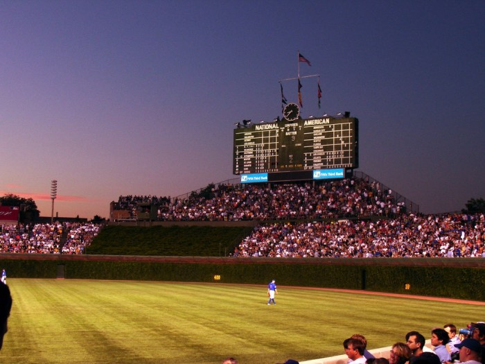 6. There is really no better view than Wrigley Field (Chicago) at sunset.
