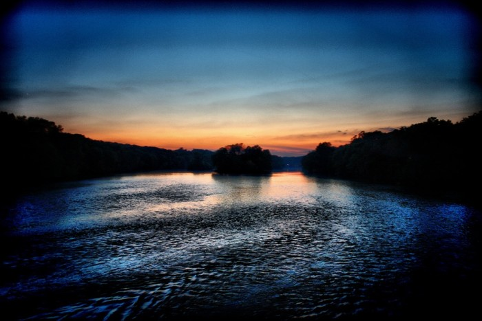 10. This is a great view of the Fox River (South Elgin) at sunset.