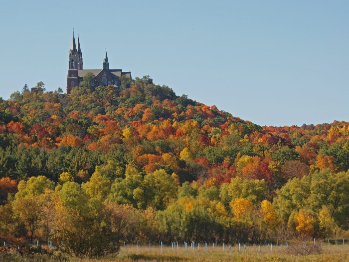 2. Fall and Holy Hill are beautiful on their own. Put them together and you get this incredible shot.