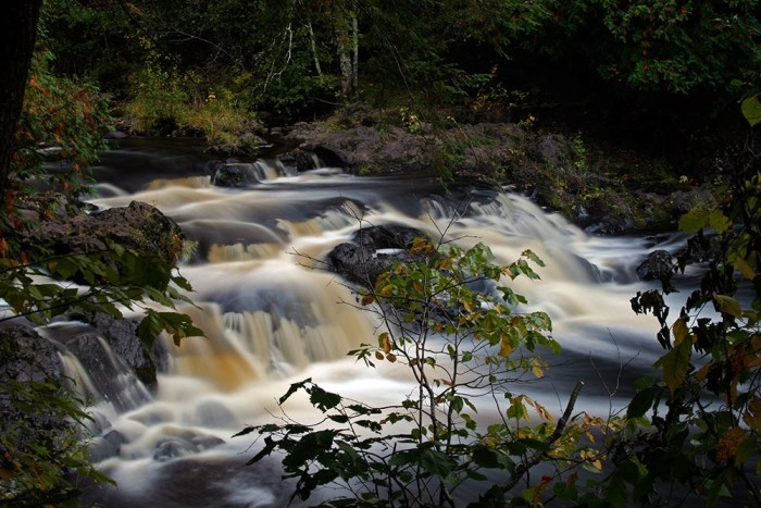 4. This photo of Copper Falls State Park looks enhanced--but it isn't!