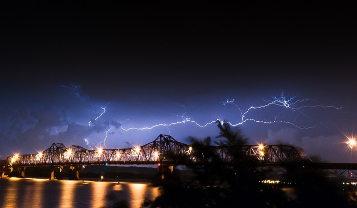 2. Love this shot of lightning over Peoria.