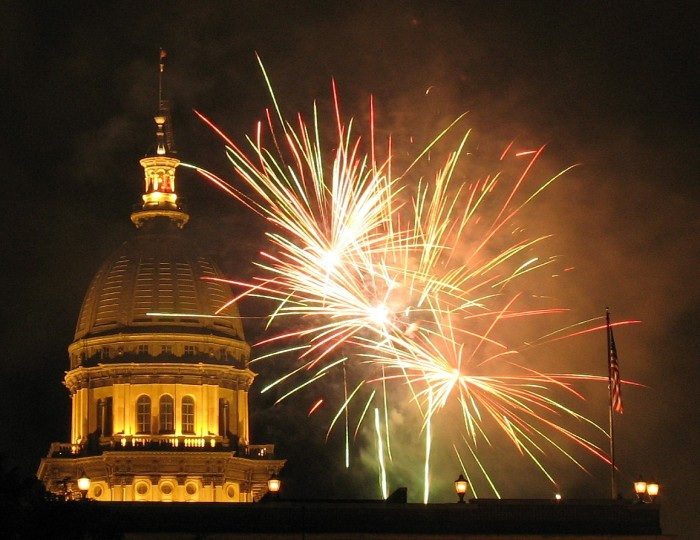 12. Equally patriotic shot of fireworks in Springfield.