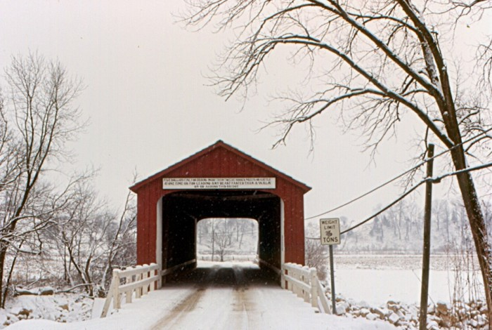 5. The Red Covered Bridge (Princeton) is even more beautiful set off of the winter snow.