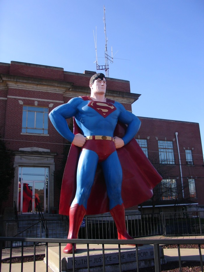 13. Any visitor to Metropolis has to take a pictre of this 12 foot Superman.