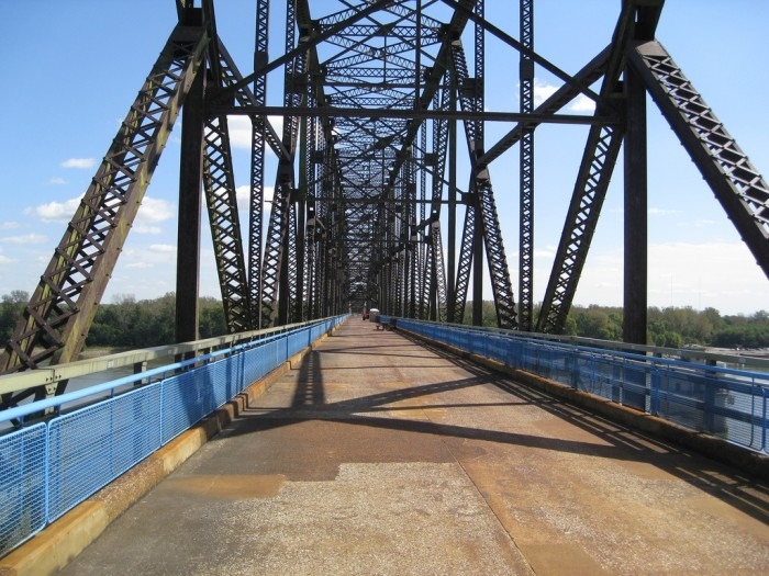 1. Chain of Rocks Bridge (Illinois into St. Louis)